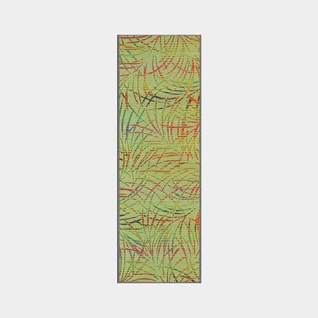 【い草-畳】イケヒコ い草ヨガマット カルム 赤 (60×180cm)