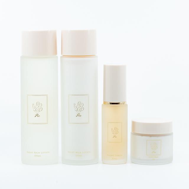 睡眠時間の美容成分を整える「ナイトコスメ4種」