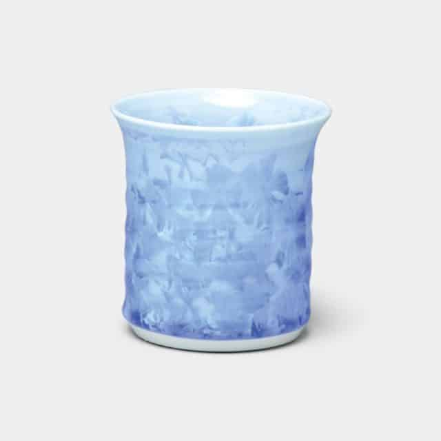 【京焼-清水焼】陶葊 花結晶 (青) タンブラー