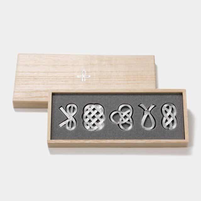 【高岡銅器】能作 箸置 - 結び
