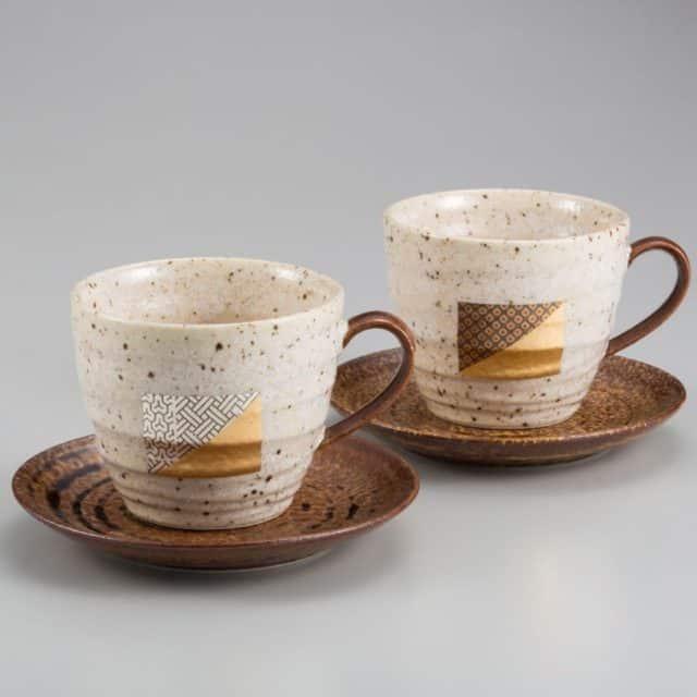 【金沢箔】箔一 コーヒーカップ&ソーサー 2ヶセット