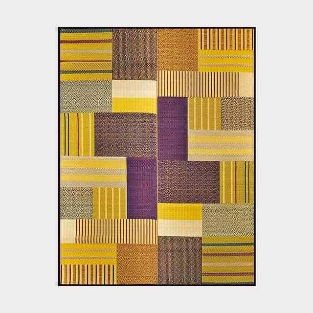 【い草-畳】イケヒコ い草ラグ グラン 黄 (191×250cm)
