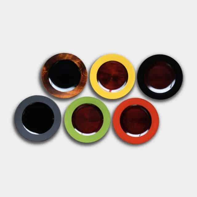 【香川漆器】87.5 カラーディッシュ 6色 (21cm, 24cm)