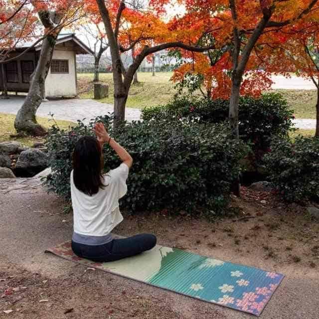 【い草-畳】イケヒコ い草ヨガマット SAKURA富士 (60×180cm)