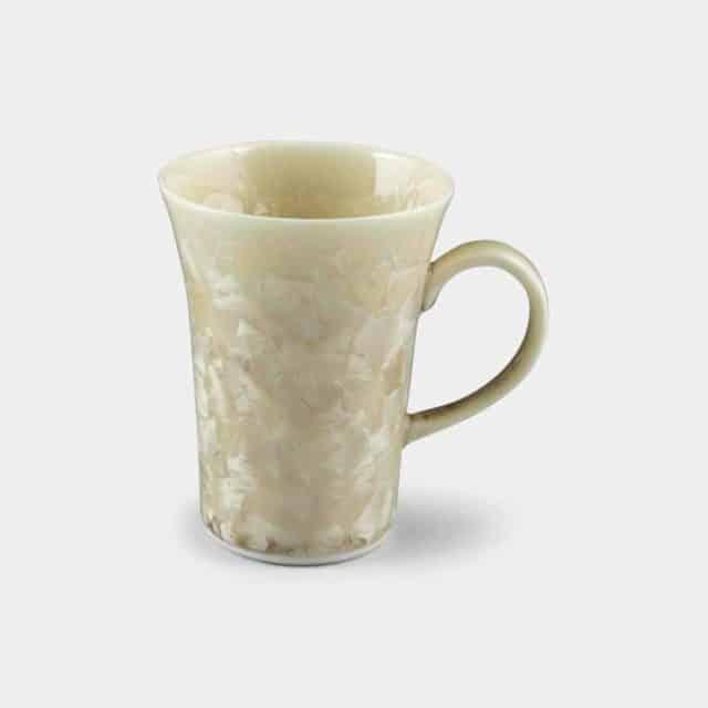 優雅な曲線美と華やかな結晶が映える「清水焼マグカップ」