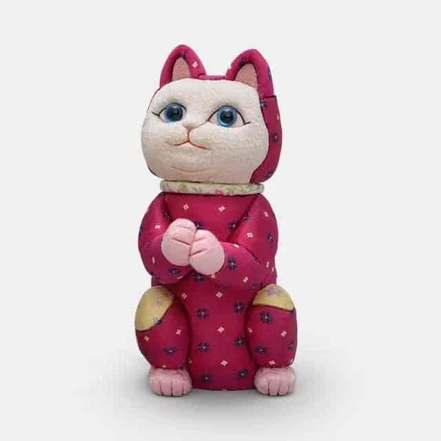 【江戸木目込み】柿沼人形 招き猫 星に願いを (光彩)