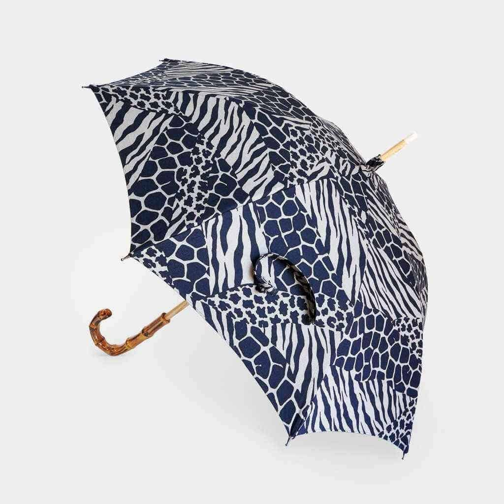 ゼブラ柄の気品高い美柄が映える【手捺染 日傘】