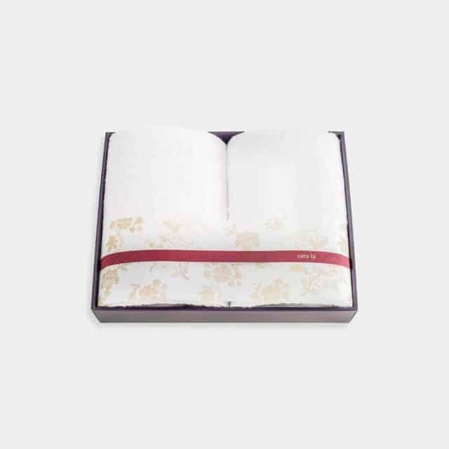 【今治タオル】sara-la「彩-irodori-」バスタオル2枚セット (ピンク・ホワイト)