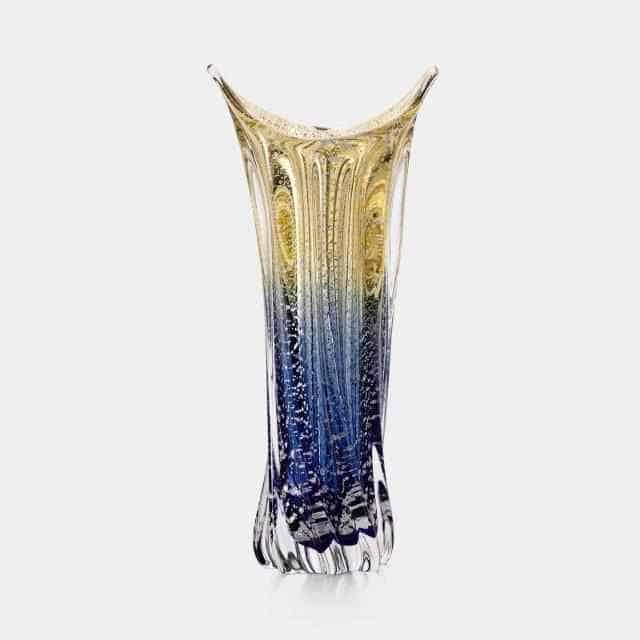 【津軽びいどろ】北洋硝子 (アデリア) 陸奥湾 銀彩 花瓶