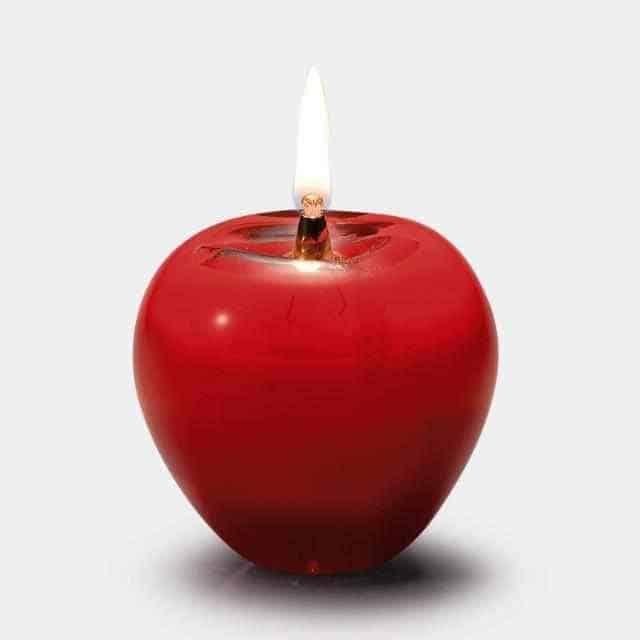 【津軽びいどろ】北洋硝子 (アデリア) 津軽赤リンゴ オイルランプ