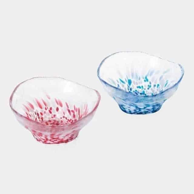 【津軽びいどろ】北洋硝子 (アデリア) 津軽の情景 多様鉢ペアセット