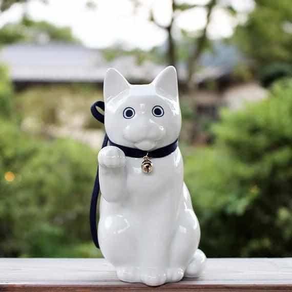 【肥前吉田焼】Kata Koto へそくりの招き猫 ホワイト