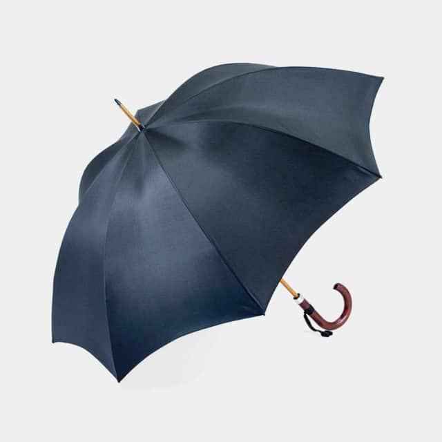 【東京洋傘】宮内庁御用達 前原光榮傘商店「紳士」雨傘 トラッド 08 (ブラック)
