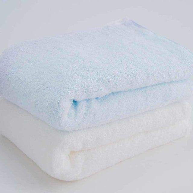 洗濯を重ねて柔らかさが続く今治産「バスタオル2枚セット」