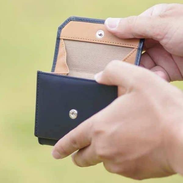 バンビ/さとりナチュラル 松阪牛革 三折財布