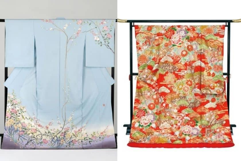 京友禅と加賀友禅の差がわかる着物の写真